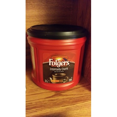 Folgers intensily dark coffee