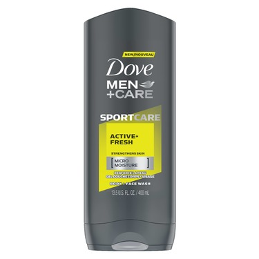 Dove Men+Care SPORTCARE Active+Fresh Body + Face Wash