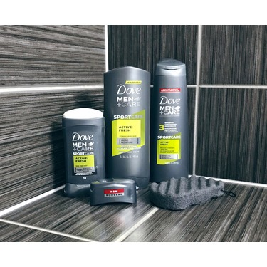 Dove Men+Care SPORTCARE Active+Fresh 3-in-1 Shampoo + Conditioner + Deodorizer