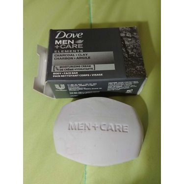 Dove Men+Care Elements Charcoal+Clay Body + Face Bar