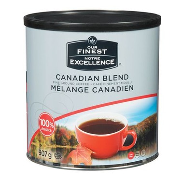 Compliments Canadian Blend Coffee