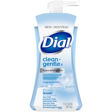 Dial® Clean + Gentle Fragrance Free Foaming Hand Wash