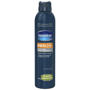 Vaseline Men 24 Hour Moisture Spray Lotion – Fast Absorbing