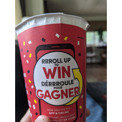 Tim Hortons Roll Up the Rim