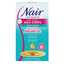 Nair Easy to Use Wax Strips Moroccan Argan Oil