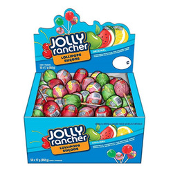 Jolly Rancher Assorted Lollipops, 850g Box (50 x 17g lollipops)