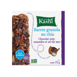 Barre granola kashi au chia,chocolat noir amande et sel marin