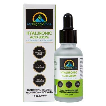 My Organic Zone Hyaluronic Acid Serum, Best Face & Skin Moisturizer for Dry & Oily Skin